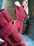 Платье - пиджак в полоску на запах с поясом и длинным рукавом vN7147, фото 4