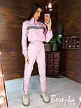 Женский спортивный костюм из плащевки со светоотражающими вставками vN7152, фото 3