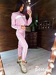 Женский спортивный костюм из плащевки со светоотражающими вставками vN7152, фото 4