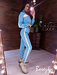 Женский спортивный костюм из плащевки со светоотражающими вставками vN7152, фото 6