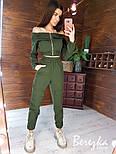 Женский брючный костюм с джоггерами и топом с открытыми плечами vN7164, фото 2