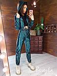 Перламутровый кожаный брючный костюм с укороченным бомбером на молнии vN7168, фото 2