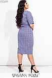 Платье футляр в больших размерах ниже колена из стрейчевого коттона vN7195, фото 4