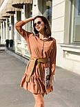Легкое платье рубашка прямого кроя с оборкой по низу и рукавом 3/4 vN7221, фото 2