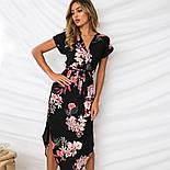 Летнее асимметричное платье в цветочный принт с коротким рукавом vN7230, фото 2
