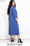 Прямое платье миди в больших размерах из коттона с накладными карманами vN7278, фото 4
