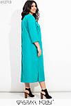 Прямое платье миди в больших размерах из коттона с накладными карманами vN7278, фото 6