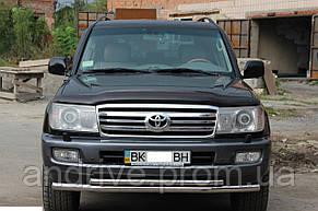 Защита переднего бампера (ус двойной) Toyota Land Cruiser 100 1998-2007