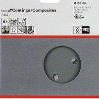 Шлифовальный лист 150 мм 400 мкм для камень/бетон Bosch 5 Шлифлистов 150ММ К400 по камню 5шт., фото 1