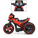 Дитячий електромобіль Мотоцикл з підсвічуванням, M 3927-3 червоний, фото 3