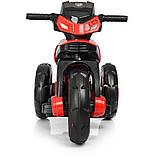 Дитячий електромобіль Мотоцикл з підсвічуванням, M 3927-3 червоний, фото 4
