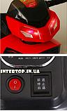 Дитячий електромобіль Мотоцикл з підсвічуванням, M 3927-3 червоний, фото 7