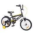"""Велосипед двухколесный Flash 16"""" (черный/белый цвет) со страховочными колесами, фото 2"""