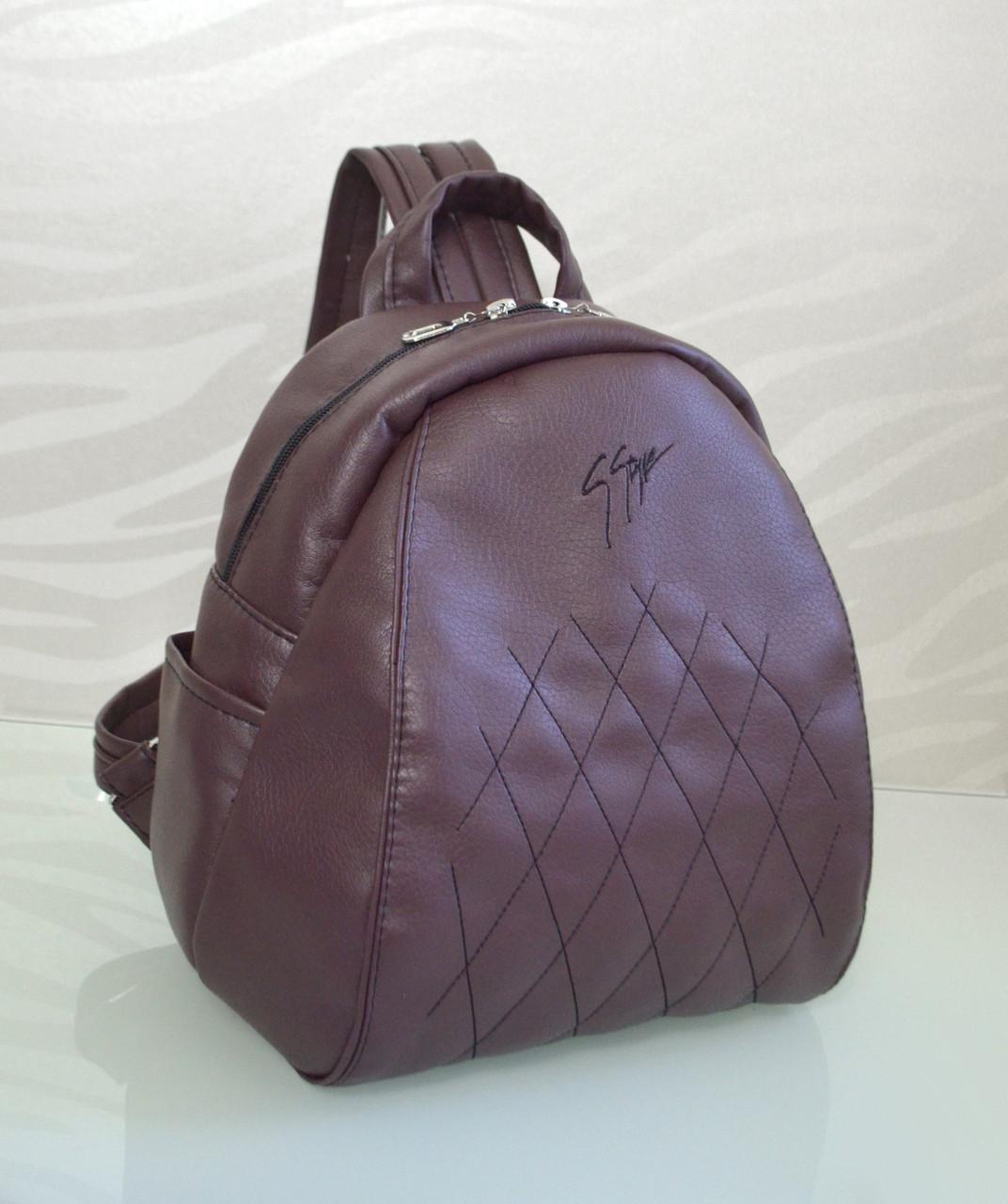 """Рюкзак """"Stefany"""" 15 бордового кольору з вишивкою"""