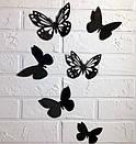 Набор 3д бабочек для декора Фиона, объемные бабочки из картона на скотче, метелики 3d, фото 3