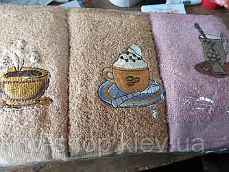 Набор кухонных полотенец Кофе  (4 вида)