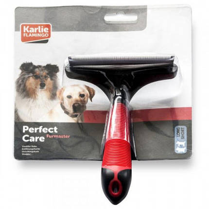 Инструмент Flamingo Furmaster для вычесывания линяющей шерсти собак и кошек, размер L, фото 2