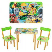 Деревянный столик и два стульчика Конструктор, 501-19