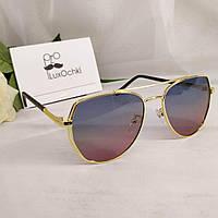 Стильные подростковые солнцезащитные поляризованные очки авиатор (капли) 2020