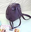 "Рюкзак ""Stefany"" 17 темно-фиолетового цвета с вышивкой, фото 3"