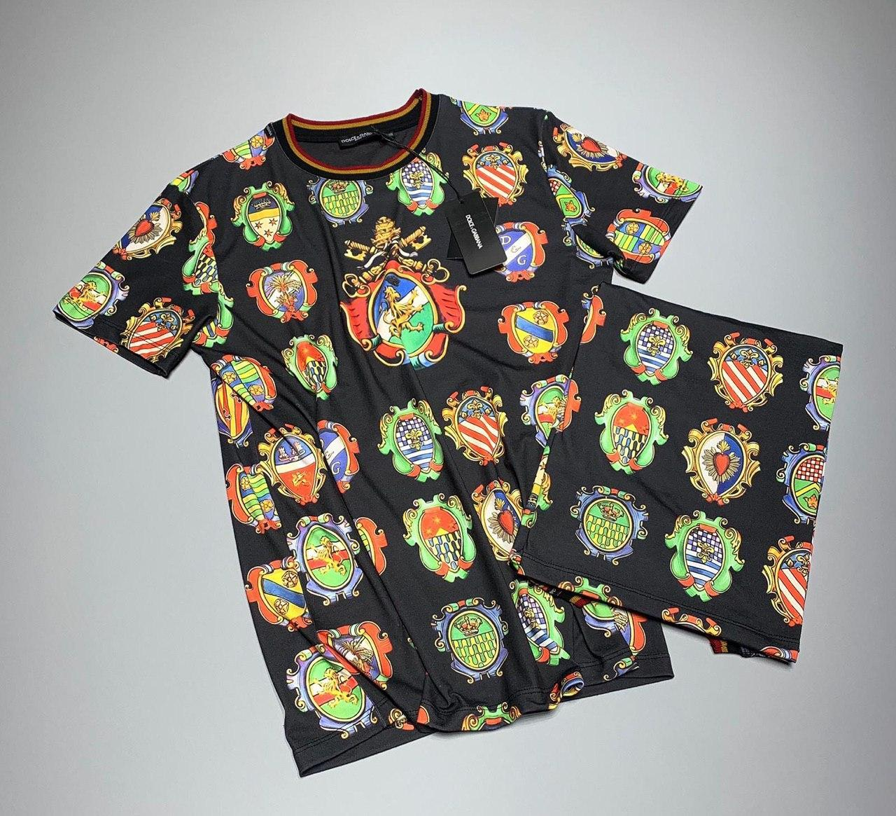 Мужская футболка Dolce & Gabbana M024 разноцветная