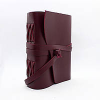 Кожаный блокнот COMFY STRAP В6 12.5 х 17.6 х 3.5 см В линию Бордовый (052)