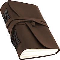 Кожаный блокнот COMFY STRAP А5 14.8 х 21 х 4 см Чистый лист Коричневый (017)