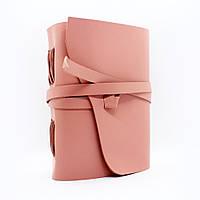 Кожаный блокнот COMFY STRAP В6 12.5 х 17.6 х 3.5 см Чистый лист Пудровый (047)