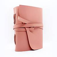 Кожаный блокнот COMFY STRAP А5 14.8 х 21 х 4 см В линию Пудровый (050)