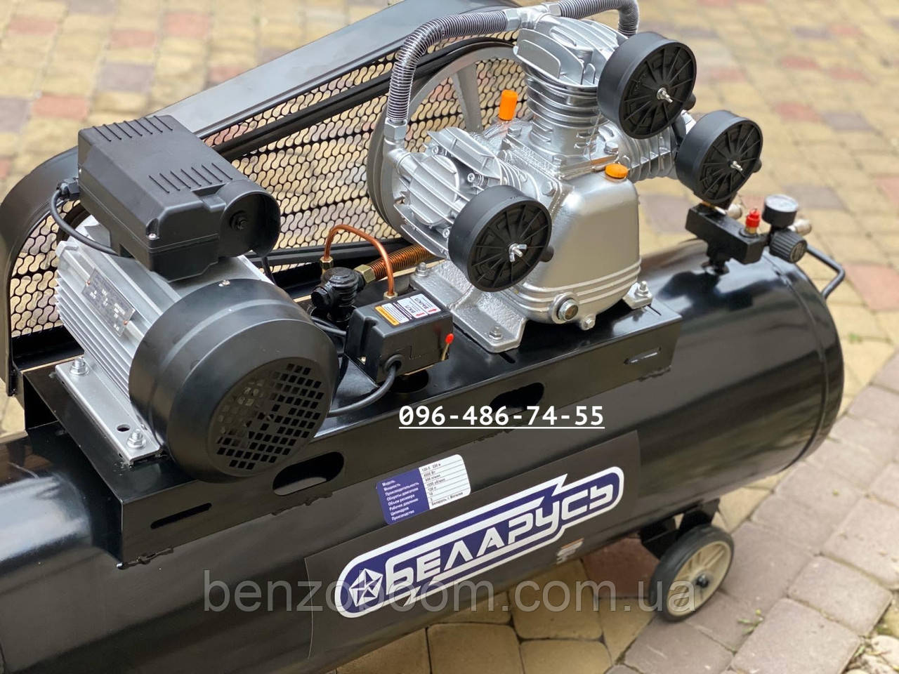 Воздушный компрессор Беларусь 120л 3 цилиндровый 380 V 4.5 кВт 850 л/мин