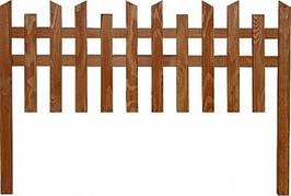Деревянный секционный заборчик