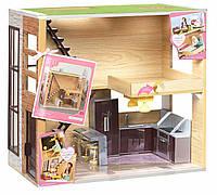Деревянный дом для кукол (свет), игровой набор, Lori