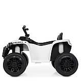 Детский квадроцикл на аккумуляторе с пультом РУ M 4229EBR-1 белый, фото 6