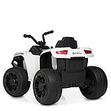 Детский квадроцикл на аккумуляторе с пультом РУ M 4229EBR-1 белый, фото 7