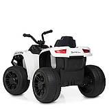 Дитячий квадроцикл на акумуляторі з пультом РУ M 4229EBR-1 білий, фото 7