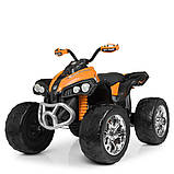 Детский электромобиль квадроцикл с 2 моторами и пультом управления BAMBI M 4200EBLR- 7 оранжевый, фото 2