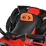 Детский электромобиль квадроцикл с 2 моторами и пультом управления BAMBI M 4200EBLR- 7 оранжевый, фото 3