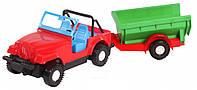 Игрушечная машинка авто-джип с прицепом, Wader