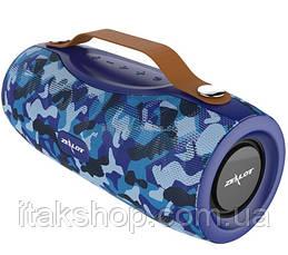 Беспроводная Bluetooth колонка Zealot S29 10W фонарик, Power Bank, радио (Blue), фото 3