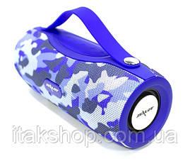 Беспроводная Bluetooth колонка Zealot S29 10W фонарик, Power Bank, радио (Blue), фото 2
