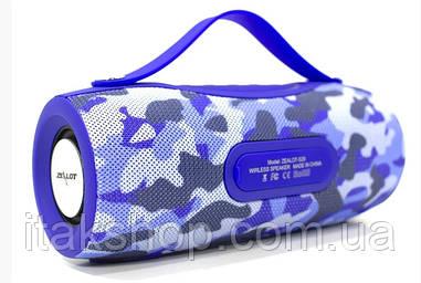 Бездротова Bluetooth колонка Zealot S29 10W ліхтарик, Power Bank, радіо (Blue)