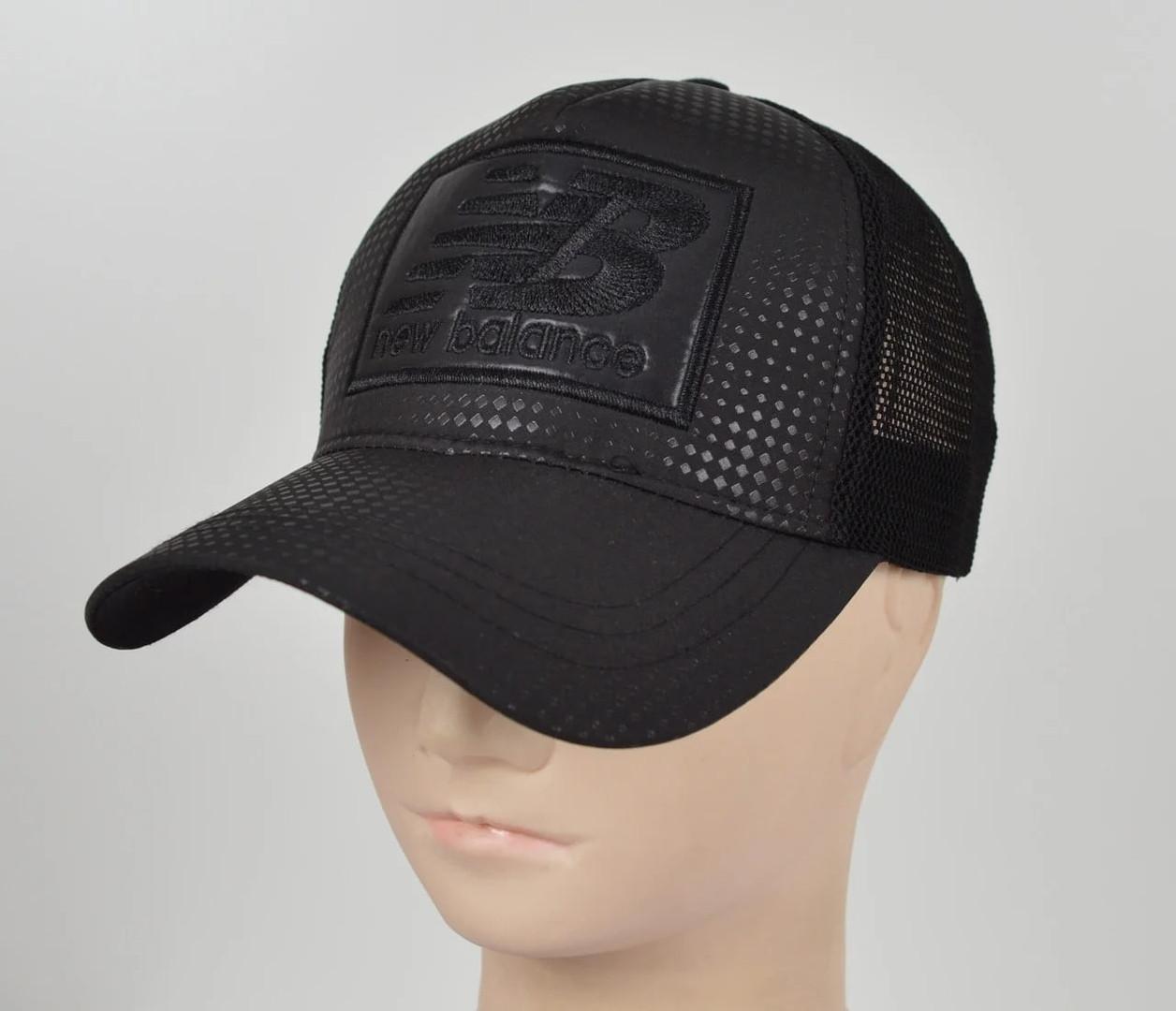 Бейсболка вышивка сетка NB ( реплика) черный размер  56-58 см