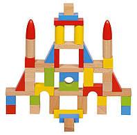 Конструктор деревянный Базовый 50 блоков, Goki