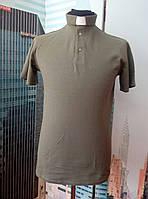 Поло для  священников цвета хаки с коротким рукавом