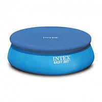 Тент для наливного круглого бассейна 457 см Intex 28023 Синий (bint_28023)