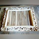Зеркало настенное в резной деревянной раме черного цвета  Z-04, фото 4