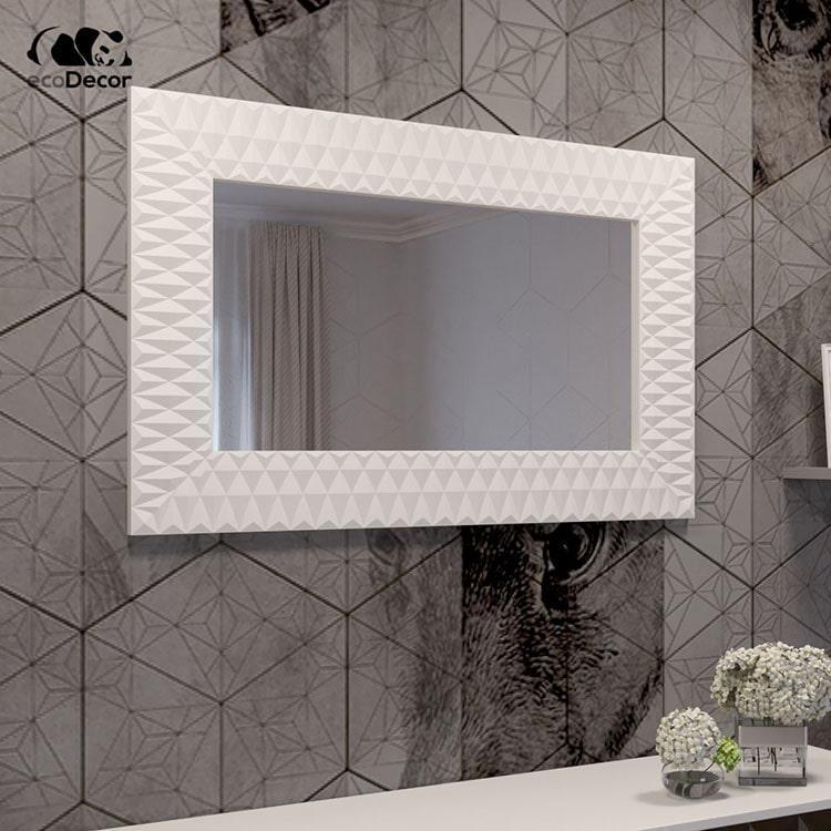 Зеркало в ванную белое Daone P1