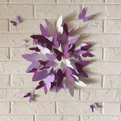 Объемные 3д бабочки и цветы