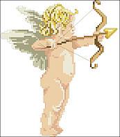 Бумажная схема  Ангел для вышивки мулине и бисером. Схема для вышивания.Схема вышивки Киевская Русь- Ангелок