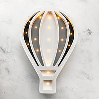 Ночник аккумуляторный детский Воздушный шар / черный & серый & белый Sabo Concept
